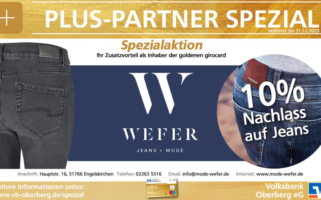 Plus-Partner Spezial 10 % Nachlass auf Jeans